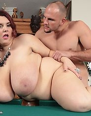 The sexy BBW Charlie Cooper goes from a round of pool to a round of dicksucking and cockriding!