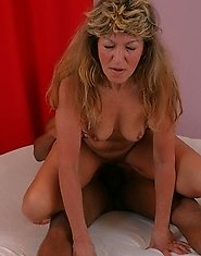 This hot mature slut gets fucked by a black man