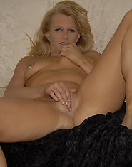 This blonde housewife loves her cocks black and hard