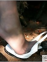 Part 2 Of Hot Teen Babe In Silver Pantyhose In A Park Flashing At Passers-By