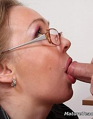 Hot scene of mature seduction