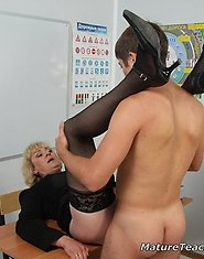Mature teacher pumped fucked