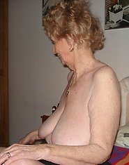 very old amateur granny poser at home