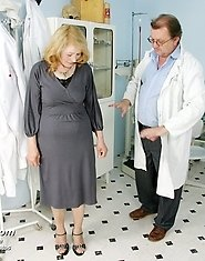 Granny Sofie visits gyno doctor for her regular gyno check up