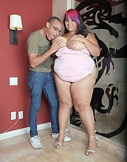 "This new cummer to ""First Time Fatties"", Lovely Sillk is going to receive the real deal introduction. She's a hot BBW with hot pink hi-"